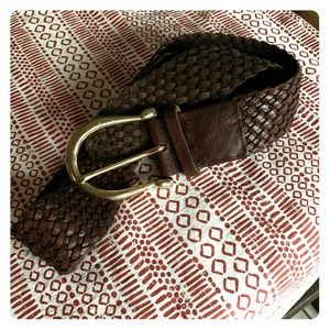 Micheal Kors Woven Leather wide belt